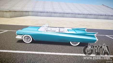 Cadillac Eldorado 1959 interior white for GTA 4 back left view