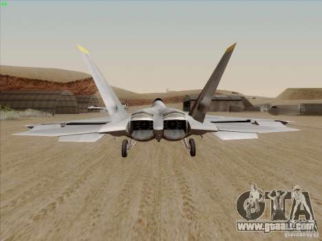 FA22 Raptor for GTA San Andreas back left view