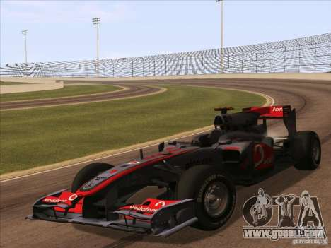 McLaren MP4-25 F1 for GTA San Andreas back left view