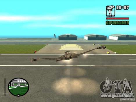 Future Army Jet for GTA San Andreas right view