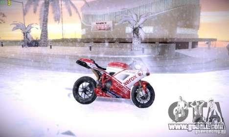 Ducati 1098 for GTA San Andreas side view