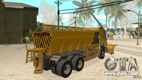 Mercedes-Benz Actros Snow Blower for GTA San Andreas right view