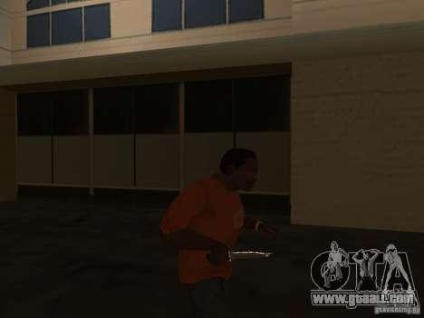 Knife Chrome for GTA San Andreas third screenshot