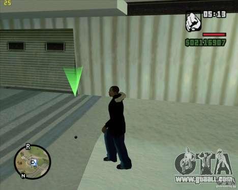 Throw a snowball for GTA San Andreas second screenshot