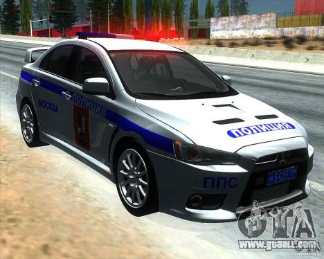 Mitsubishi Lancer Evolution X PPP Police for GTA San Andreas