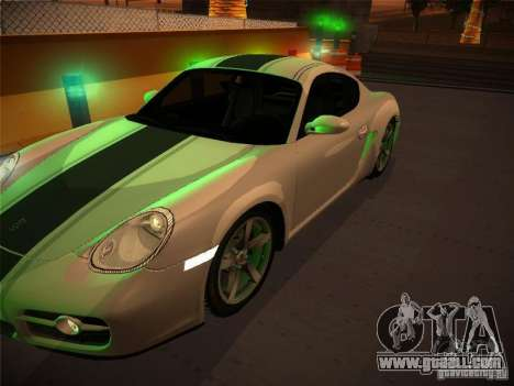 Porsche Cayman S Snow for GTA San Andreas right view