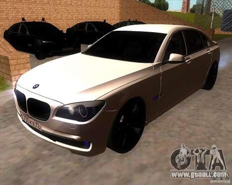 BMW 750Li 2010 for GTA San Andreas