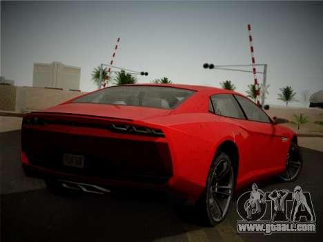Lamborghini Estoque Concept 2008 for GTA San Andreas back view