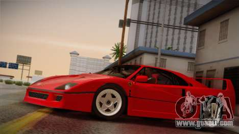 Ferrari F40 1987 for GTA San Andreas inner view