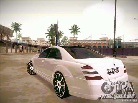Mercedes-Benz S 500 Brabus Tuning for GTA San Andreas inner view