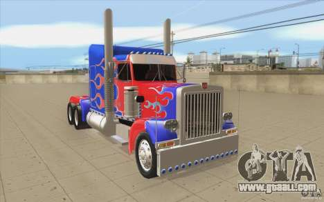 Peterbilt 379 Optimus Prime for GTA San Andreas back view