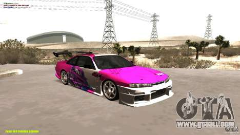 Nissan Silvia S14 kuoki RDS for GTA San Andreas inner view