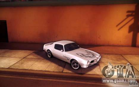 Pontiac Firebird 1970 for GTA San Andreas upper view