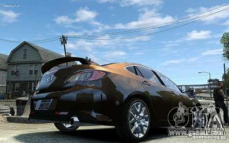 Mazda 6 2008 for GTA 4 back view