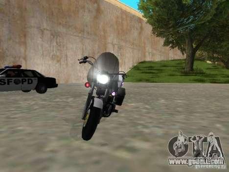 Harley Davidson Dyna Defender for GTA San Andreas back left view