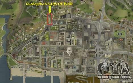 Billboards In GEARS OF WAR for GTA San Andreas forth screenshot
