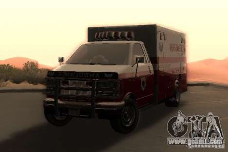 Ambulance from GTA 4 for GTA San Andreas back left view