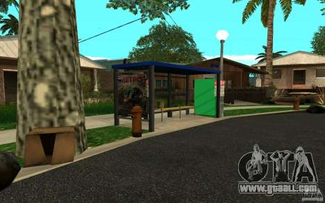 New bus stop for GTA San Andreas third screenshot