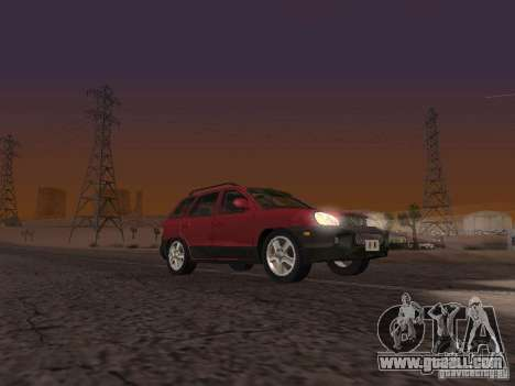 Hyundai Santa Fe Classic for GTA San Andreas back left view