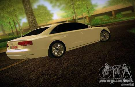 Audi A8 2010 for GTA San Andreas upper view