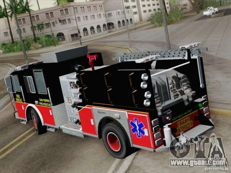 Seagrave Marauder Engine SFFD for GTA San Andreas right view