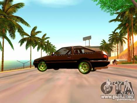 Toyota Corolla Carib AE86 for GTA San Andreas back left view