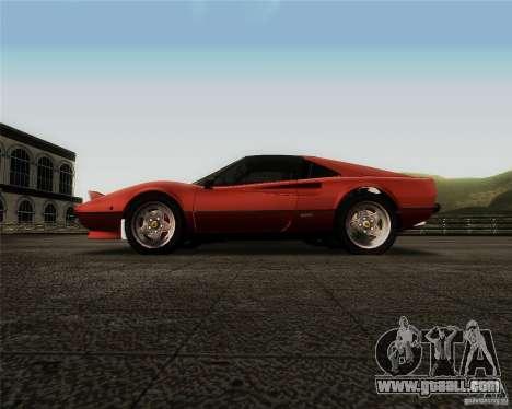 Ferrari 308 GTS Quattrovalvole for GTA San Andreas inner view