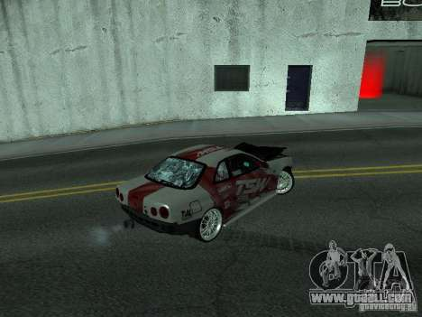 Nissan Skyline R 34 for GTA San Andreas side view