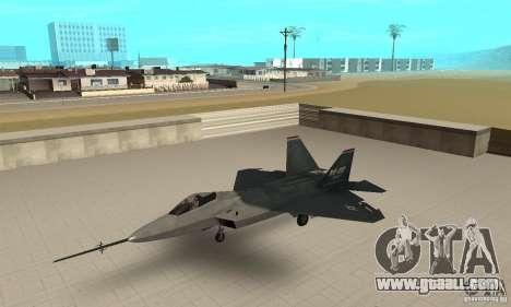 YF-22 Standart for GTA San Andreas