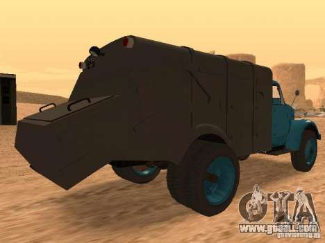 GAZ 51 garbage truck for GTA San Andreas right view