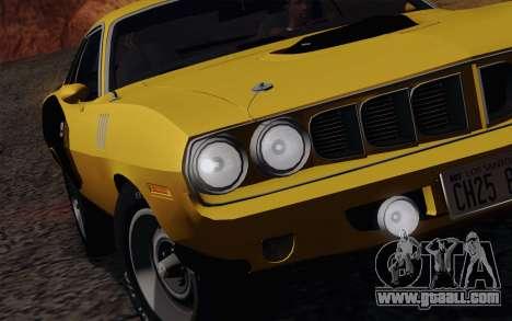 Plymouth Hemi Cuda 426 1971 for GTA San Andreas bottom view