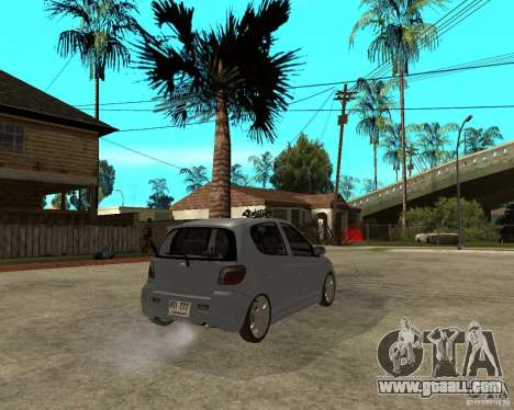 Toyota Vitz for GTA San Andreas back left view