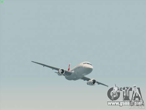 Airbus A319-112 Swiss International Air Lines for GTA San Andreas back view