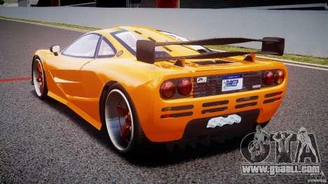 Mc Laren F1 LM v1.0 for GTA 4 back left view