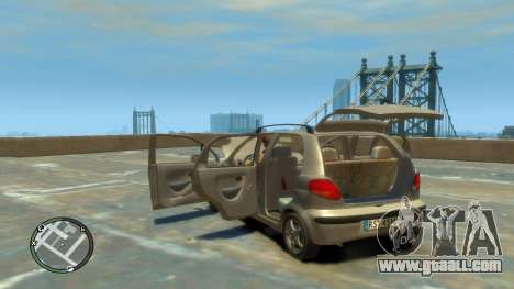 Daewoo Matiz Style 2000 for GTA 4 inner view