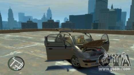 Daewoo Matiz Style 2000 for GTA 4 back view