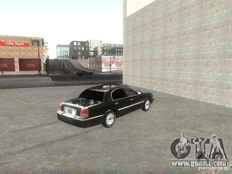 Lincoln Town car sedan for GTA San Andreas back left view