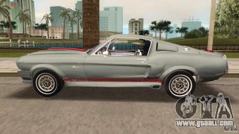 Ford Shelby GT500 for GTA Vice City inner view