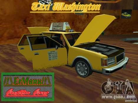 Taxi Washington for GTA San Andreas right view