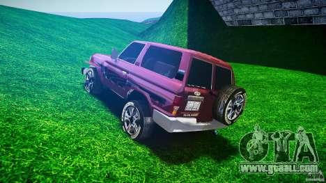 Toyota Land Cruiser 4.5 V2 for GTA 4 back left view