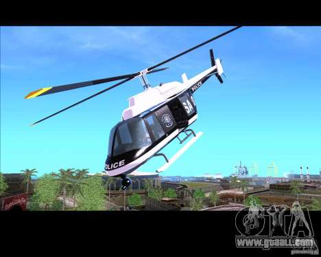 GTA IV Police Helicopter for GTA San Andreas