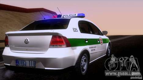 Volkswagen Voyage Policija for GTA San Andreas right view