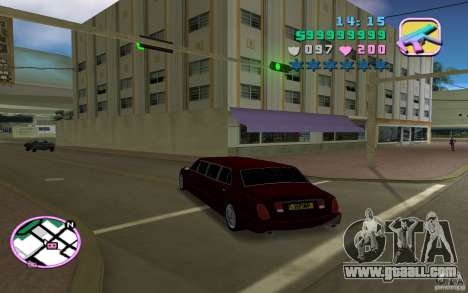Rolls Royce Silver Seraph for GTA Vice City back left view