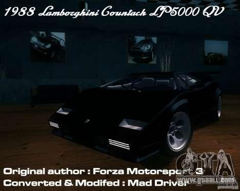 Lamborghini Countach for GTA San Andreas side view