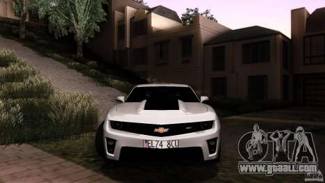 Chevrolet Camaro ZL1 2011 v1.0 for GTA San Andreas inner view