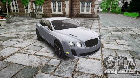 Bentley Continental SuperSports 2010 [EPM] for GTA 4 back view