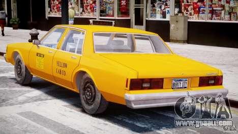 Chevrolet Impala Taxi 1983 [Final] for GTA 4 bottom view