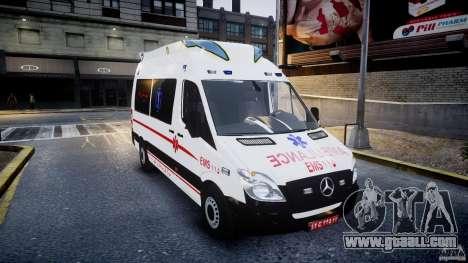 Mercedes-Benz Sprinter Iranian Ambulance [ELS] for GTA 4 back view