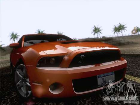 Ford Shelby Mustang GT500 2010 for GTA San Andreas