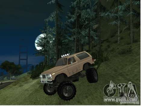 Ford Bronco IV Monster for GTA San Andreas left view